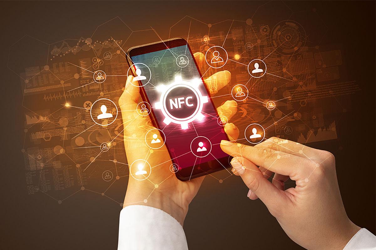 étiquette adhésive NFC