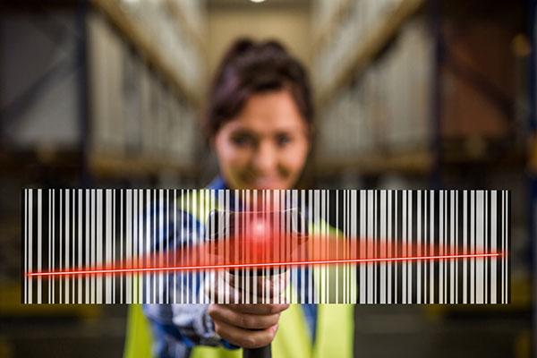 étiquette adhésive code barre