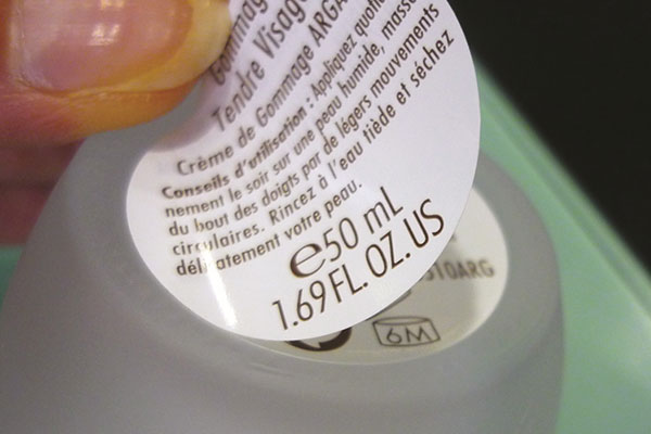 étiquette adhésive livret