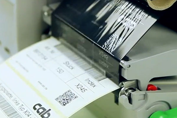 étiquette adhésive transfert thermique